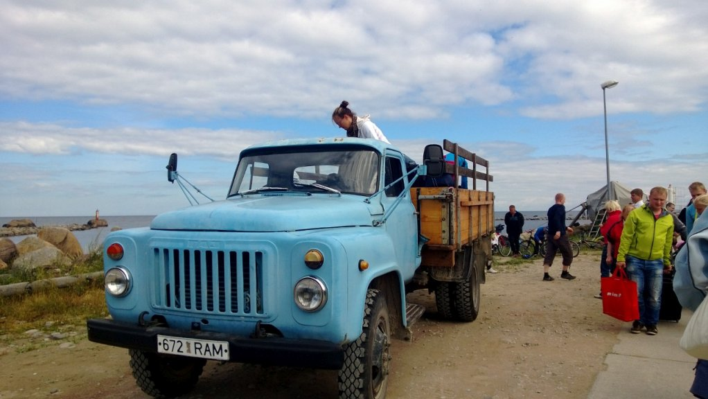 Prangli Travel. Island tour in an old Soviet style truck