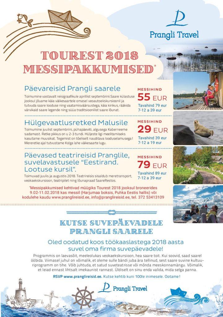 Tourest 2018 Messipakkumised Prangli Travel