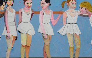 MÕTTEVAHETUS BALLETISAALIS / DISCUSSION IN A BALLET HALL Akrüül lõuendil / Acrylic on canvas 135 x 200 cm 2015