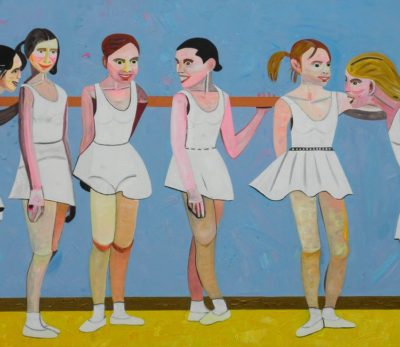 MÕTTEVAHETUS BALLETISAALIS / DISCUSSION IN A BALLET HALL Akrüül lõuendil / Acrylic on canvas 135 x 200 cm 2015