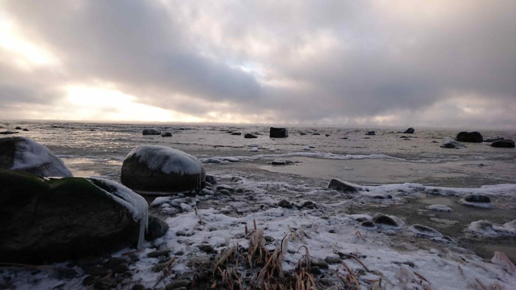Prangli saar talvel.
