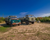 ©S. Toom. Open-top Soviet trucks take bigger groups to Prangli island sightseeing