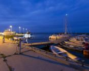 ©M. Riisenberg. Prangli saar, Kelnase sadama purjekad