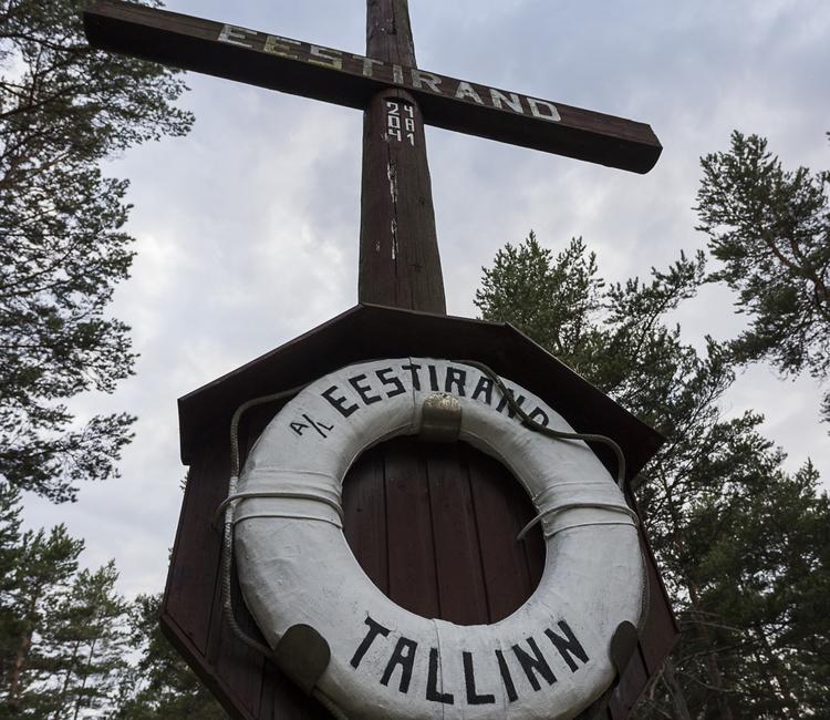 Heeringapüügilaev Eestirand mälestusmärk Prangli saarel. Autor Martin Andreller